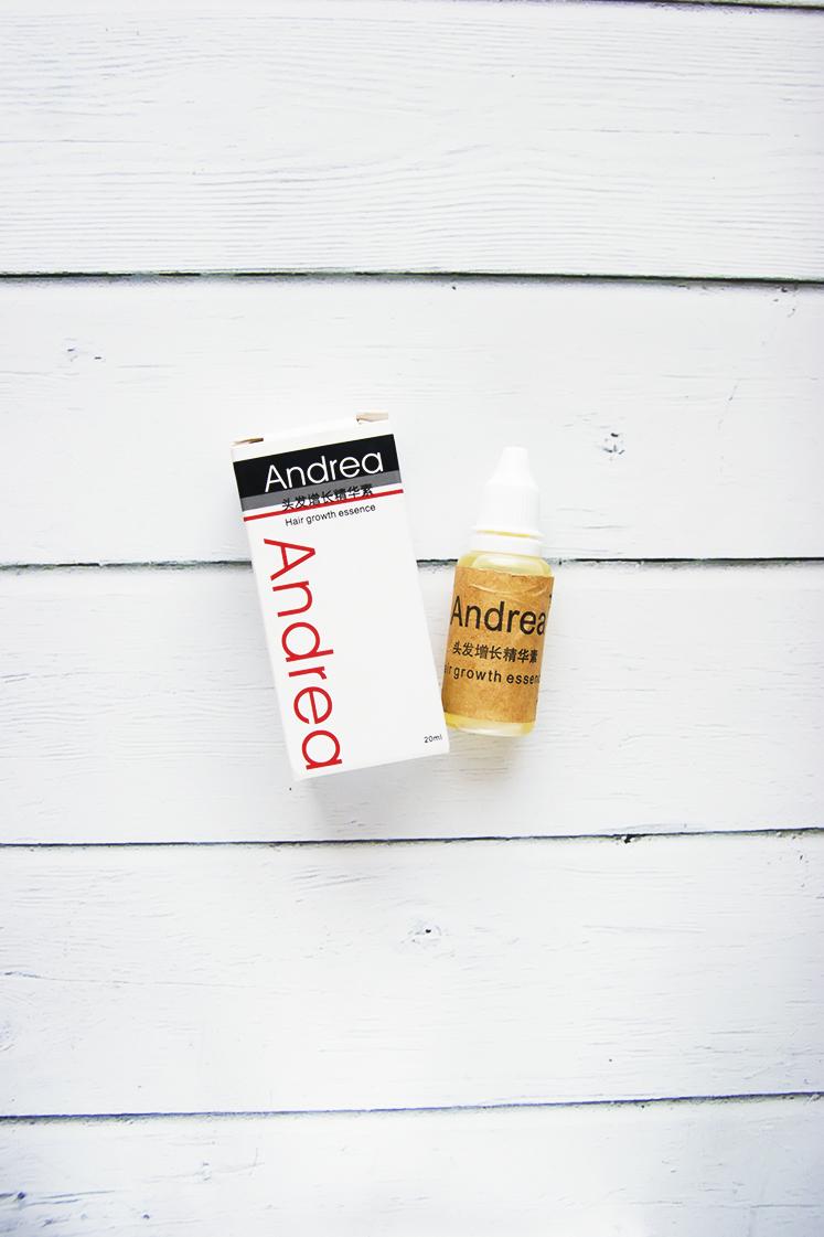 Esencja olejek Andrea na porost włosów efekty