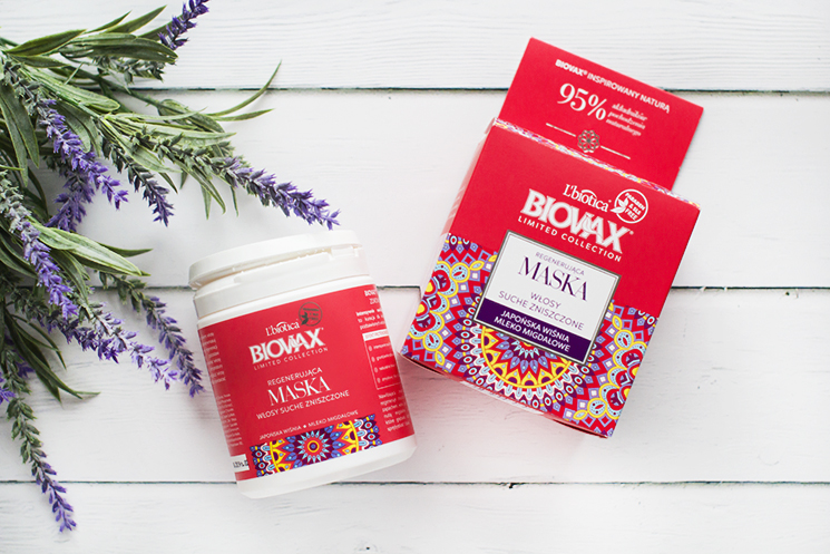 Biovax maska japońska wiśnia i mleko migdałowe