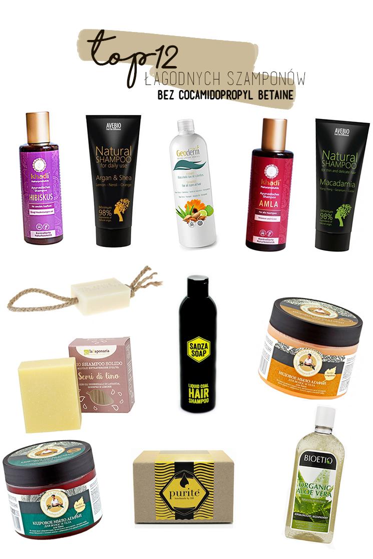 Łagodne szampony bez Cocamidopropyl Betaine